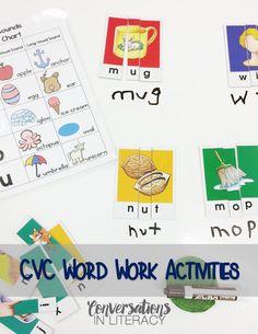 http://conversationsinliteracy.blogspot.com/2016/06/cvc-word-work-activities.html