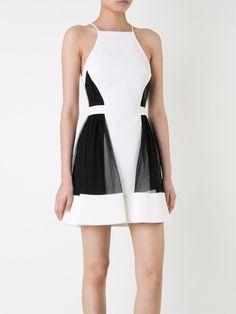 David Koma платье с панельным дизайном