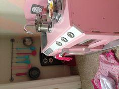 Girls Playroom - Play Kitchen Pink Retro