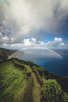 Rainbow Coast Nordeste, Azores Island, Portugal #Portugal #Azores