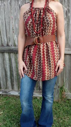 Flowing Belt Top by CaraLeAnnDesigns on Etsy, $25.00