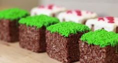 Minecraft Grass Blocks Rice Krispy Treats - foodista.com