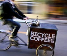 Coffee by Bike! I want to do this.