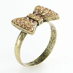 LC Lauren Conrad Gold Tone Simulated Crystal Bow Ring - LOVED this but it's not in my size :(