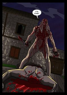 It's a Vampire!!! (page 23) by Gocce & Sejver #vampire #horror #comics #fantasy #action #blood ; published on www.komicbrew.com