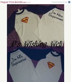 Sale US FREE SHIPPING Superman Couples T-Shirt Great for disneyworld and vacations on Etsy, $38.95