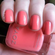 Zoya Tickled Collection: Summer 2014 - Swatches and Review - Coral Nail Polish - Zoya Wendy http://www.zoya.com/content/category/Zoya_Tickled_Bubbly_Summer_2014_Nail_Polish_Collection.html