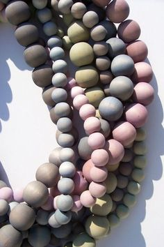 Hand-Dyed Wooden Bead Necklaces. Holy smokes I adore these. The texture, the palette. Gogre!! #hjh