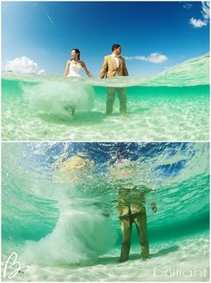 The underwater trash the wedding dress Turks and Caicos Islands| Brilliant Blog
