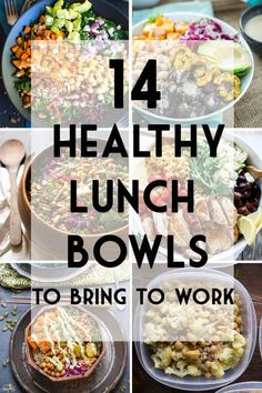 Make Ahead Lunch Bowls To Bring To Work Avoid the vending machine with these healthy and filling lunch bowl recipes!Avoid the vending machine with these healthy and filling lunch bowl recipes! Healthy Lunches For Work, Make Ahead Lunches, Snacks For Work, Healthy Meal Prep, Healthy Snacks, Healthy Recipes, Office Lunch Ideas, Light Lunch Ideas, Simple Lunch Ideas
