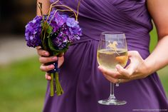Wedding at a Georgia winery. Hydrangea bridesmaids bouquet. Photography by Gandy Photographers