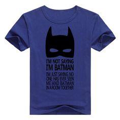 casual men t-shirt Top Tees T-shirts clothing cartoon The Batman sign geek gray T shirt summer cotton drake raglan brand Batman Jokes, Batman Sign, Batman T Shirt, Im Batman, What Do You Mean, Just For You, Chef Shirts, Mens Tees, Shirt Outfit