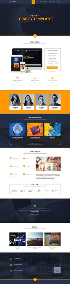 Graffy - Flat Modern PSD Template