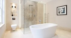 An elegant bathroom in Berkshire #bathtub