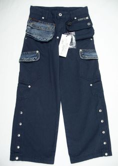 DG Girls New Pants Size 8 Blue Multi Pocket Trousers Kids $179 #DG #CasualPants