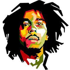 Bob Marley in WPAP by aditzprasetya on DeviantArt Bob Marley Painting, Bob Marley Art, Pop Art Portraits, Portrait Art, Rasta Art, Bob Marley Pictures, Nesta Marley, Music Images, Love Wallpaper