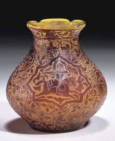 Émile Gallé, Persian Vase, France, ca. 1890.