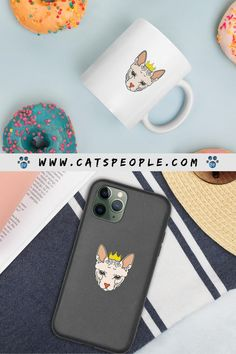 Gifts and unique items for sphynx cat fans! Get this unique Biodegradable iphone case, to protect your phone and the evnvironment both in one go. A cute eco-friendly phone case with the cutest sphynx cat design. And enjoy your morning coffee in style with this sphynx cat themed coffee mug! #cat #cats #catowner #catlover #catgift #catblog #catspeople #catmom #catdad #sphynx #sphynxcat #sphynxcatlover #sphynxcatowner #hairlesscat #baldcat #ecofriendly #phonecase #catmug Cat Lover Gifts, Cat Gifts, Cat Lovers, Sphynx Cat, Cat People, Cat Dad, Toy Sale, Cat Design, Cat Toys