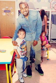 Kanye West in the Nike Air Yeezy 2 Black/Solar Red