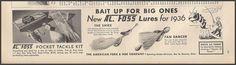 1927 Al Foss tackle advertisement.