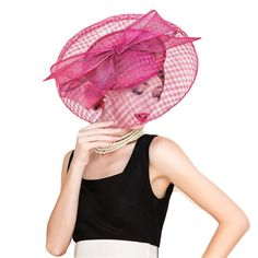 PopNobility FS Black Sinamay Vintage Hats For Women Philippines Large Brim Wedding Dress Hat Fascinator Ladies Kentucky Derby Hats Church - Brand Name: FS Sinamay Hats, Fascinator, Ladies Wedding Hats, Fedora Hat Women, Fedora Hats, Derby Outfits, African Blouses, Ascot Hats, Stylish Hats