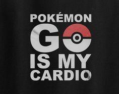 Pokemon Go is My Cardio Team Mystic or Valor Tee T-Shirt