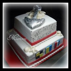 Nautical Themed Retirement Cake by Slice of Sweet Art - Custom Cakes, via Flickr