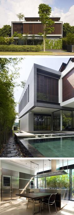 ONG&ONG - The 72 Sentosa Cove House Home Design, Villa Design, Modern House Design, Floating Architecture, Residential Architecture, Interior Architecture, Modern Tropical House, Tropical Houses, Modern Exterior