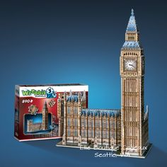 BIG BEN 890 PIECESAGE 12+ More timeless fun. Same Wrebbit magic.  One of the most loved models from our first generation of 3D puzzles, Big Ben is back bigger than ever with the addition of the Houses of Parliament. After the 2012 London Olympic Games and the renaming of the Clock Tower to El...