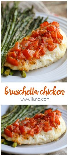 DELICIOUS Bruschetta Chicken - a simple and easy way to cook chicken adding so much flavor! { lilluna.com }