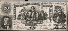Twenty Dollar Note Confederate States of America Richmond Sept 2 1861 RARE | eBay #MakeAnOffer