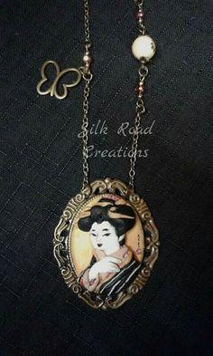 Geisha in oro Geisha in gold #fimo #polymerclay #geisha #japan #art