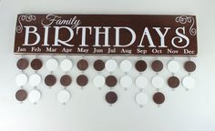 Family Birthday VINYL ONLY Family Birthday Board by SweetJeanShop