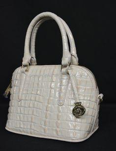 199.00$  Buy here - http://vizwx.justgood.pw/vig/item.php?t=iyj4rb721176 - NWT Brahmin Dottie Leather Satchel/ Shoulder Bag in Quartz La Scala 199.00$