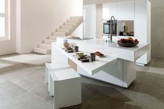 Small kitchens don't mean you have to sacrifice style or functionality. Read on for ideas on how to make your compact kitchens inspire efficiency and style. EVOLUTION KITCHEN In the closed position, this kitchen seems like a stylish but simple cube shaped kitchen island. By activating a button located on one side of the Evolution …