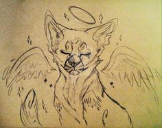 He's in Starclan now owo Warrior Cats Books, Warrior Drawing, Warrior Cat Drawings, Warrior Cats Fan Art, Warrior Cats Art, Animal Sketches, Animal Drawings, Cat Anatomy, Wolf Illustration