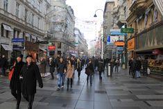 Vienna. Kärntner Strasse, Graben e Kohlmarkt