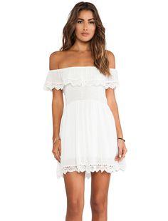 Raga Lace White Mini Dress in White
