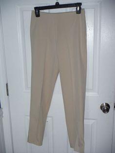 """NWT Leggiadro size 2 techno side zip capri beige Inseam is about 27"""" NEW #Leggiadro #DressPants"""