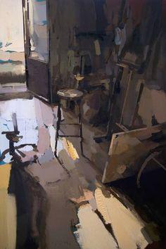 "Saatchi Art Artist Carlos San Millan; Painting, ""Stool (Interior #147)"" #art"