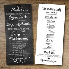 Free Wedding Program Templates and Ideas | Team Wedding Blog