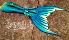 Full silicone tail by Mermaid Raven of Merbella Studios Inc.