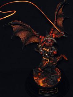 Warhammer 40k   Daemons of Chaos   Bloodthirster of Khorne   Golden Daemon 2016…