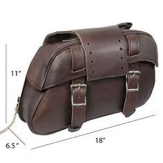 Xelement 2921-BR Slanted Brown Motorcycle Saddlebags – One Size