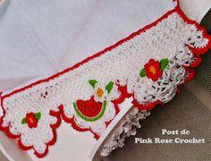 \ PINK ROSE CROCHET /: Barrado Frutas