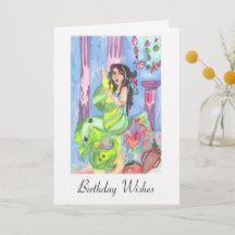 Mermaid Birthday Wishes Greeting cards