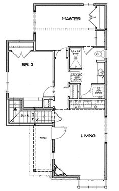 Granny pods on wheels 2 Bed Tiny Cottage House Plan - floor plan - Basement Option - Main Level Small Cottage Homes, Cottage Style Homes, Cottage House Plans, Small House Plans, Cottage House Designs, Tiny House Design, Cabin Floor Plans, Craftsman Style House Plans, Cabins And Cottages
