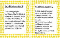 Varga-Neményi-menetelmään, toiminnallisuuteen ja Liikkuva Koulu-ideologiaan hurahtaneen opettajan opetuskokeiluja. Grammar, Literacy, Periodic Table, Literature, Language, Classroom, Teaching, Activities, Writing
