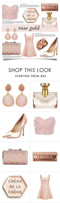 """""""Fall Trend: Rose Gold"""" by markarid ❤ liked on Polyvore featuring Monica Vinader, Bulgari, Charles David, La Regale, Urban Decay, Rosanna, Opening Ceremony, Pink and rosegold"""