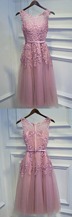 Only $99, Pretty Pink Lace Short Party Dress Sleeveless With Appliques #MYX18121 at #SheProm. SheProm is an online store with thousands of dresses, range from Homecoming,Party,Bridesmaid,Pink,A Line Dresses,Short Dresses,Customizable Dresses and so on. Not only selling formal dresses, more and more trendy dress styles will be updated daily to our store. With low price and high quality guaranteed, you will definitely like shopping from us.